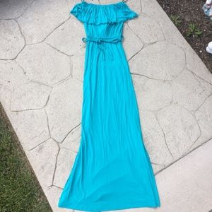 NWT Forever 21 Maxi Dress Blue Small